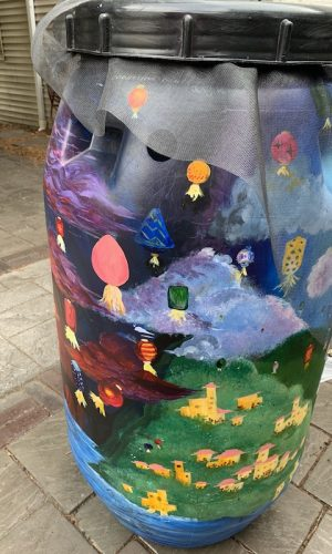 Floating Lanterns-created by Mechanicsburg ART IV Class