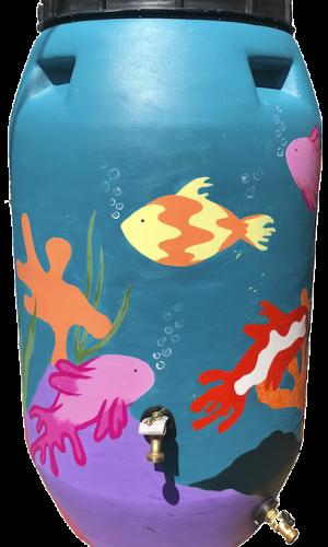 Aquarium-Created by Claire Williams, art Student at Trinity